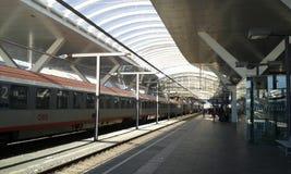 Salzburg station. Inside Salzburg train station. January 2017 Royalty Free Stock Photography