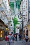 Salzburg street Stock Images