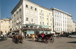 Salzburg street Royalty Free Stock Photos