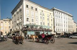Salzburg street Royalty Free Stock Photos