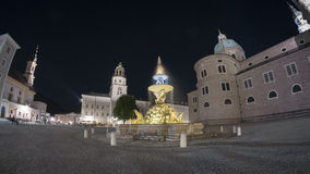 Salzburg street view. City was listed as a UNESCO World Heritage Site. Stock Photography