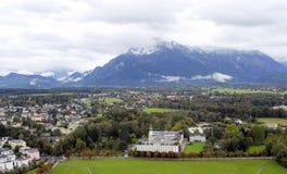 Salzburg.Top mening. Stock Fotografie