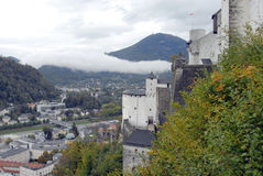 Salzburg.Top view. Royalty Free Stock Photo