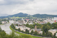 Salzburg a top view. Stock Photography