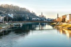 Salzburg Uma cidade em Áustria ocidental, a capital do estado federal de Salzburg O quarto - a cidade a maior em Áustria Imagem de Stock Royalty Free