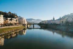 Salzburg Uma cidade em Áustria ocidental, a capital do estado federal de Salzburg O quarto - a cidade a maior em Áustria Imagens de Stock Royalty Free
