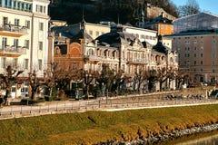 Salzburg Uma cidade em Áustria ocidental, a capital do estado federal de Salzburg O quarto - a cidade a maior em Áustria Fotografia de Stock