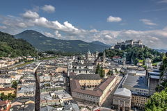 Salzburg view of castle Royalty Free Stock Photo