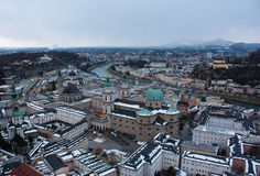 Salzburg in Winter Royalty Free Stock Images