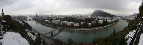Salzburg Winter Panorama Royalty Free Stock Photo