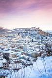 Salzburg in winter, Salzburger Land, Austria Stock Photo