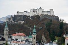 Salzburg zamku Fotografia Royalty Free