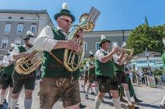 Salzburger Dult Festzug在萨尔茨堡,奥地利 库存图片