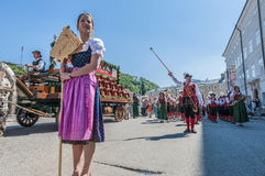 Salzburger Dult Festzug στο Σάλτζμπουργκ, Αυστρία στοκ φωτογραφίες