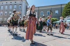 Salzburger Dult Festzug em Salzburg, Áustria Imagens de Stock