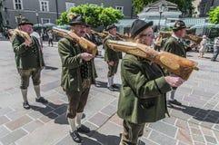 Salzburger Dult Festzug at Salzburg, Austria Royalty Free Stock Photos