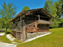 Salzburger open air museum wooden barn Royalty Free Stock Images