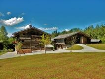 Salzburger open air museum wooden barn Stock Image