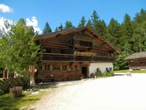 Salzburger open air museum wooden cottage Stock Photography