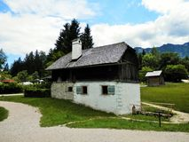 Salzburger open air museum wooden cottage Stock Photos
