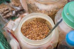 Salzen Sie Paprikapulver, asiatische Bestandteilwürze für das Essen der Frucht, besondere saure Früchte Stockbild