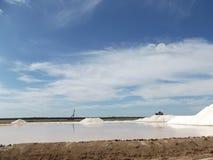 Salzen Sie Raffinerie, Goldgrube, Sanlucar de Barrameda Stockbild