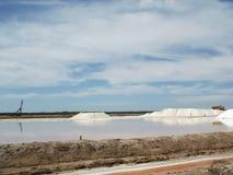 Salzen Sie Raffinerie, Goldgrube, Sanlucar de Barrameda Stockbilder