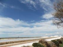 Salzen Sie Raffinerie, Goldgrube, Sanlucar de Barrameda Stockfoto