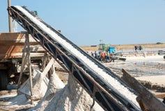 Salzförderer in Pomorie Stockfoto