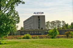 Salzgitter, basse-saxe, Allemagne, 10 05 2016, siège social d'Alstom Allemagne Photographie stock libre de droits
