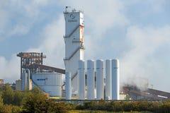 Salzgitter Flachstahl. Salzgitter, Germany - September 26, 2015: Industrial plant of German steel producer Salzgitter AG and of German supplier of industrial Royalty Free Stock Image