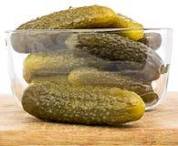 Salzige knusprige Gurken Lizenzfreies Stockbild
