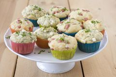 Salzige Muffins Lizenzfreie Stockfotos