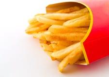 Salzige schmierige Pommes-Frites Lizenzfreie Stockfotos