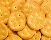 Salziger Biskuitcracker Stockfoto