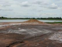 Salziger Boden stockbilder