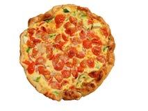 Salziger Kuchen gemacht von den frischen Tomaten, vom Käse, von den Eiern und von der Zucchini Lizenzfreie Stockfotografie