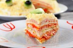 Salziger Pfannkuchenkuchen Lizenzfreie Stockfotografie