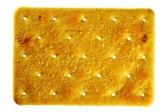 Salziger rechteckiger Cracker stockbild