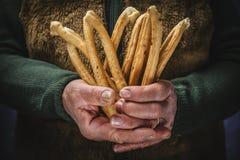 Salziger Snack gebacken, typischer Italiener Stockbilder