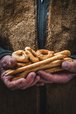 Salziger Snack gebacken, typischer Italiener Lizenzfreies Stockbild