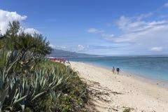 Salziger Strand des La, La Reunion Island, Frankreich Stockfoto