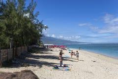 Salziger Strand des La, La Reunion Island, Frankreich Stockfotos