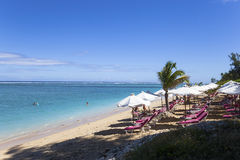 Salziger Strand des La, La Reunion Island, Frankreich Stockbild