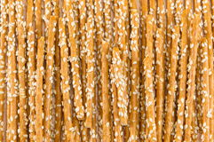 Salziges Breadstickshintergrundmuster Stockfotos