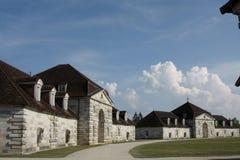 Salziges Royale im Bogen und in Senans Historisches Gebäude gemacht von Claude-Nicolas Ledoux-Architekten, im Bogen und in Senas  lizenzfreie stockbilder