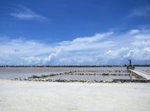Salzpfannen auf großartigem Turk Island Stockfotos