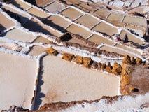 Salzpfannen Salineras de Maras, Peru lizenzfreie stockbilder