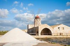 Salzpfannewindmühle Lizenzfreies Stockbild