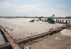 Salzproduktion in Schwarzem Meer Stockbild